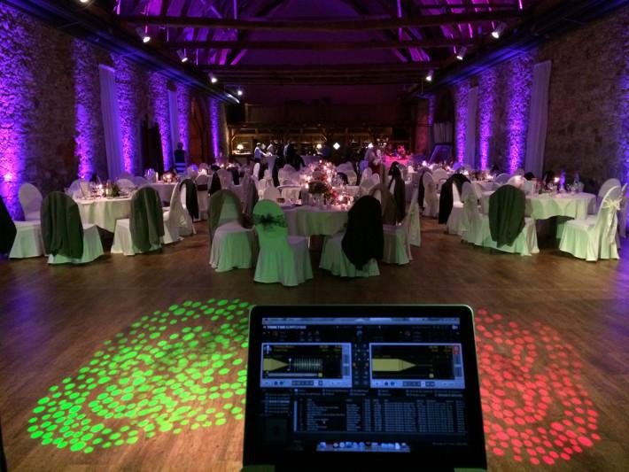 DJ Raiko auf einer Hochzeit im Koster Niembschen Grimma