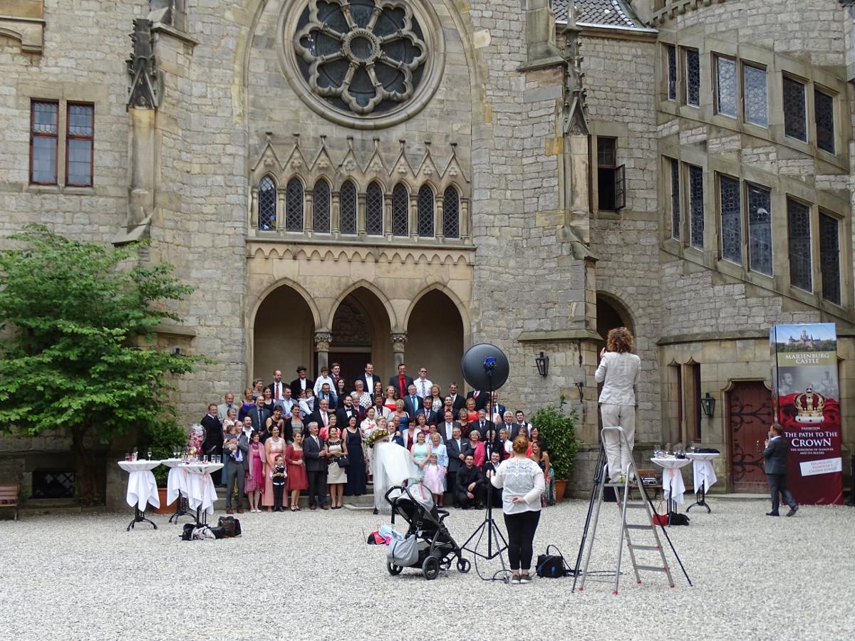 Hochzeit Schloss Marienburg Innenhof