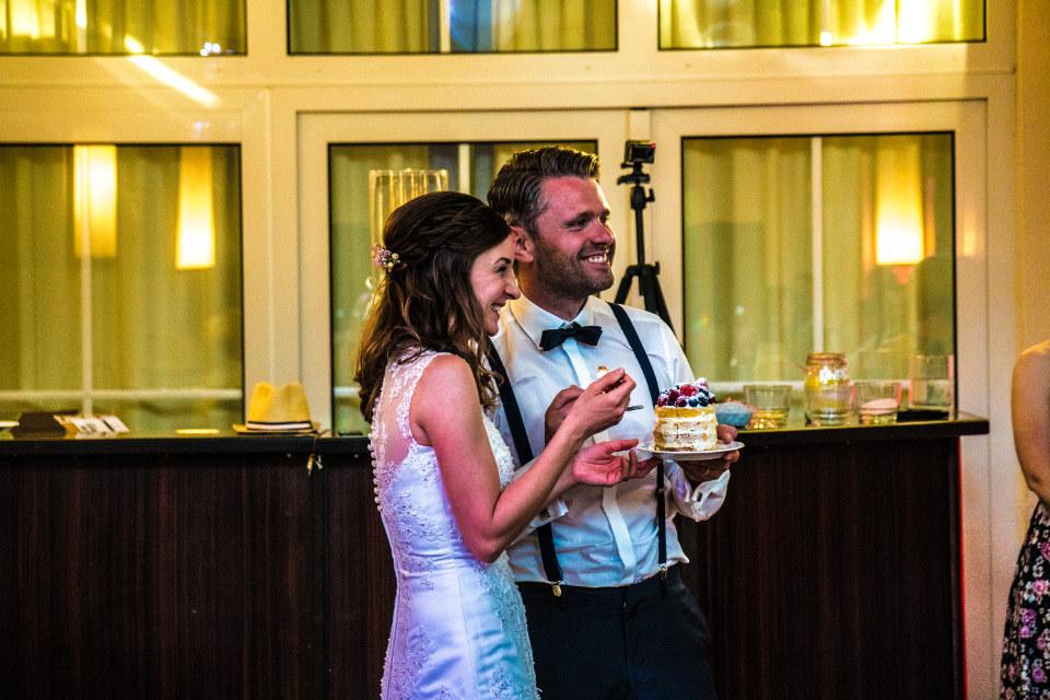 Hochzeitstorte bei einer Hochzeit im Restaurant Seeblick Trebus
