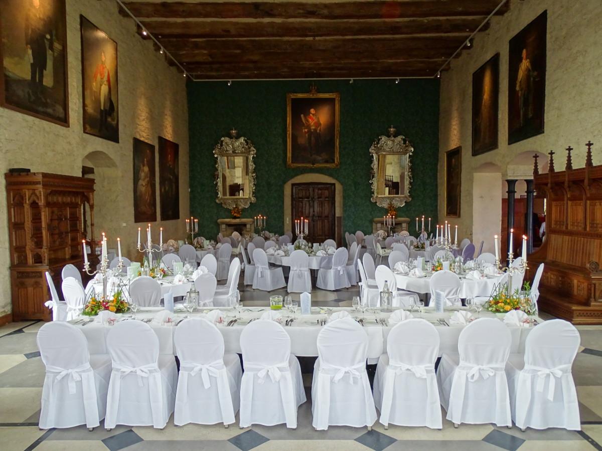 Schloss Marienburg Saal bei der Hochzeit