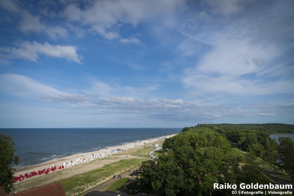 Ausblick zur Ostsee vom Strandhotel Seerose Usedom