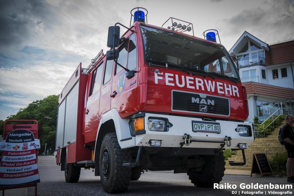 Usedom Hochzeit Feuerwehr Koelpinsee