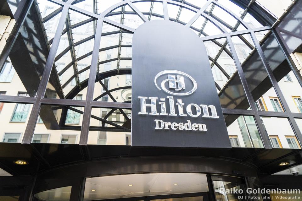 Das Hilton Hotel in Dresden