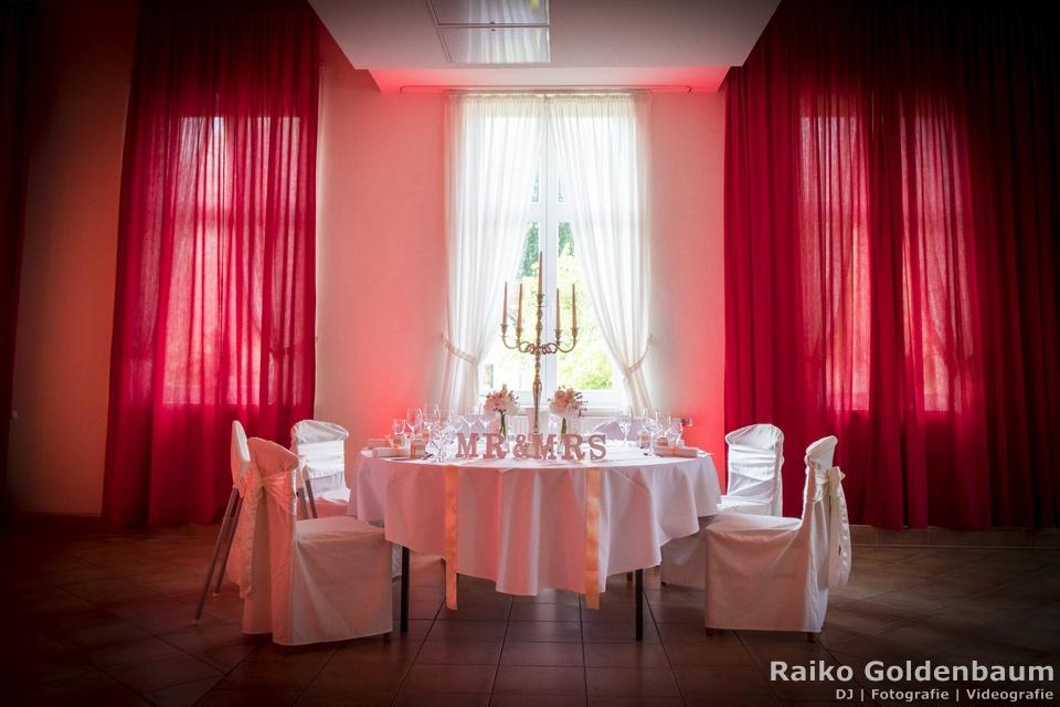 Gut Gnewikow Tisch vom Hochzeitspaar