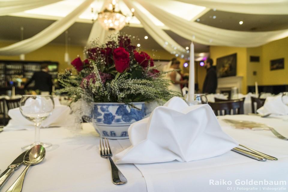 Café Wildau Hochzeit Gästetisch