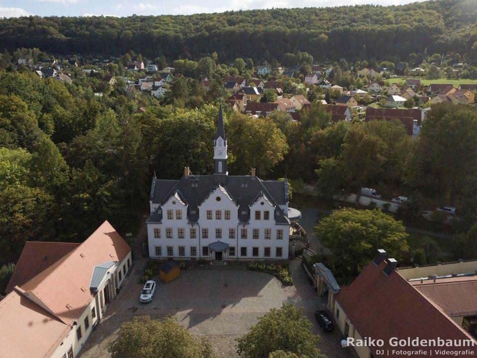 Schloss Burgk Freital Luftbild